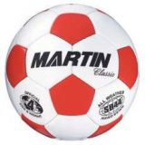 Soccer Balls, classic, hand sewn, PU leather, butyl bladder, official size 4, red/white