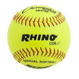 12 Leather Cover Softball with .47 Poly Core, 1 Dozen