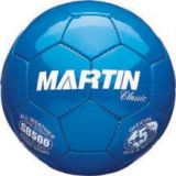 Soccer Balls, classic, hand sewn, PU leather, butyl bladder, size 5 official, blue