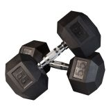 Individual Rubber Hex Dumbell, 10 lbs.