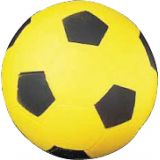 Coated High Density Foam Soccer Ball Size 4, Yellow/Black