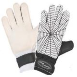 Adult Soccer Goalie Gloves, latex palm, full finger gussets, elastic wristband and velcro closure, size medium