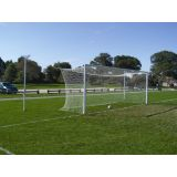 Semi-Perm World Competition Soccer Goal with Hex Net, 8'H x 24'W x 6'B x 6'D