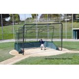 Line Drive Vinyl Skirt for Batting Cages, Fits 16'6W x 16'6D x 12'H
