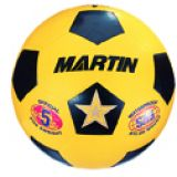 Soccer Balls, rubber, nylon wound, official, size 5, yellow
