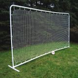 Medium Soccer Rebounder, 7.5'H x 18'W, white 1.5 square mesh net