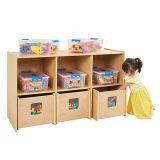 "See & Store Shelf Storage, 48""W x 17.75""D x 28.5""H, with Manipulatives"