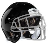 Adult Tachyon Football Helmet with Unattached Faceguard, Black, Size Small