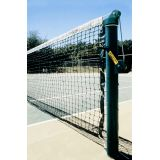 Permanent/Semi-Permanent Powder Coated Tennis Posts, 1.75 diameter Pulley and Tensioning Ratchet