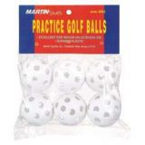Plastic Golf Balls, white only, 6-pk