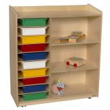 Sensorial Discovery Shelving with Assorted Trays