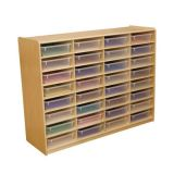 (32) 3 Letter Tray Storage Unit with Translucent Trays