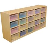 (20) 5 Letter Tray Storage Unit with Translucent Trays