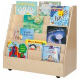 Book Storage and Display with Four 3 Clear Letter Trays