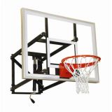 Basketball Adjustable Wall Mounted Shooting Station, 7.5'-10'H, 36 x 48 Acrylic Backboard