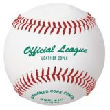 Baseball official league, genuine leather cover, cushioned center, blem cover, 12-pk