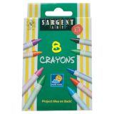 Sargent Art® Crayons, 8 count tuck box