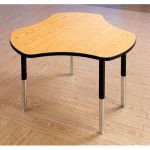Berries® Collaborative Table, Hub Table, Oak top w/Black edge & upper legs