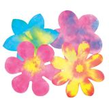 Color Diffusing Paper, Flowers, 80 sheets