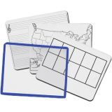 KleenSlate® Dry Erase Board System, Dry Erase Sleeves with 2-Sided Templates, Set of 12