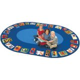 Reading by the Book Seating Rug, 6'9 x 9'5 Oval