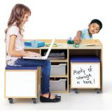 STEM Activity Desk and Mobile Seating Storage Bins Set