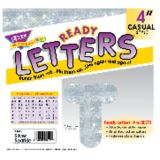 4 Uppercase Casual Ready Letters®, Silver Sparkle