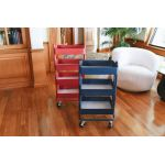 4-Tier Utility Rolling Cart, Red