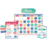 Watercolor Calendar Bulletin Board Set