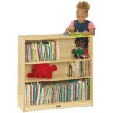 Bookcase with 2 Adjustable Shelves, 35-1/2H, Fully Assembled