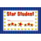 Star Student Incentive Punch Cards