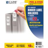 C-Line® Self-Adhesive Binder Labels, 2 5/16 x 3 1/16 (2 Binders)