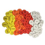 Sensational Math™ Place Value Discs, 4-Value Whole Numbers, Set of 1,200
