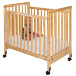 SafetyCraft® Compact-Size Crib, Fixed Side with Clearview End Panels