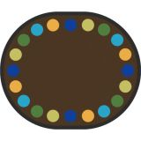 Lots of Dots™ Rug, 10'9 x 13'2 Oval (20 dots), Earthtone
