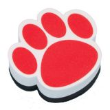 Magnetic Whiteboard Eraser, Red Paw