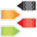 Mini Colorful Cut-Outs® Assorted Designs, Crayons