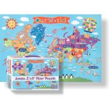 Kid's Floor Puzzle, World