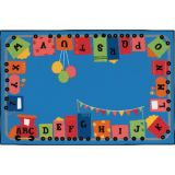 KID$ Value Rugs™, Alpha Fun Train, 4' x 6'