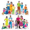 Multicultural Families Flannelboard Set, Set of all 4, Pre-cut