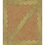 Sparkle Shine Gold Glitter Scalloped Border