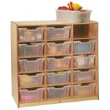 Clear-Tray Storage Cabinet, 15-Tray