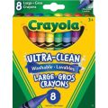 Crayola® Large Washable Crayons, 8 colors
