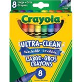 Crayola® Ultra Clean Washable Large Crayons, 8 colors