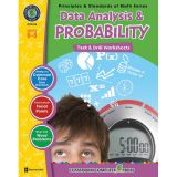 Principles & Standards of Math Task & Drill Worksheets, Data Analysis & Probability, Grades 6-8