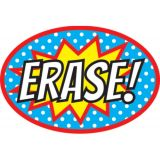 Magnetic Whiteboard Erasers, Superhero Erase!