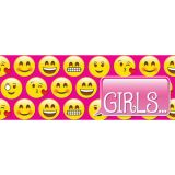 Laminated Hall Pass, Emoji Girls Pass