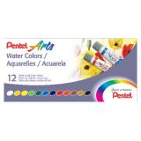 Pentel Arts® Water Colors, 12-Color Set