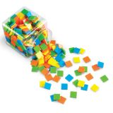 Square Tiles, Brights, Set of 400