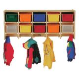 Wall Mount Coat Locker, With colored trays